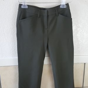 Theory Green stretchy skinny slacks Size 0